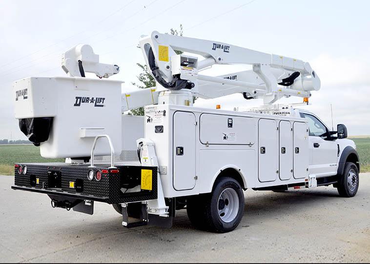 Material Handling, Telescopic Articulating Bucket Trucks